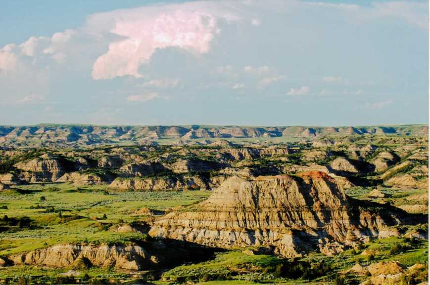 The greenest Badlands I ever saw