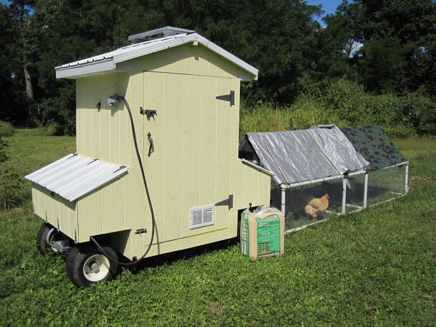 Moveable Feast---solar-powered, auto open and close chicken coop/tractor built by Mr. W